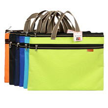 hot deal buy dumei a4 portable and double-deck document bag file pocket oxford fabric office school supplies nf-263