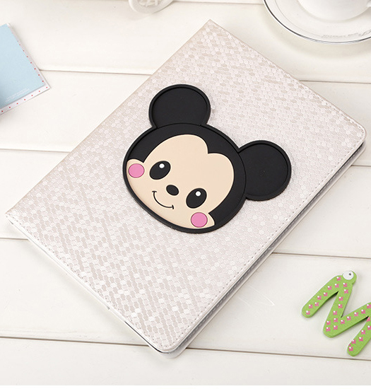 Hot selling cartoon Mickey case for new Ipad 9.7inch 2017 version, Black white pink A1822 smart cover,Leather flip MID protector рюкзак case logic 17 3 prevailer black prev217blk mid