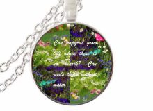 Can papyrus grow tall where there is no marsh? Can reeds thrive without water scripture quote jewelry for women men christian fa(China)