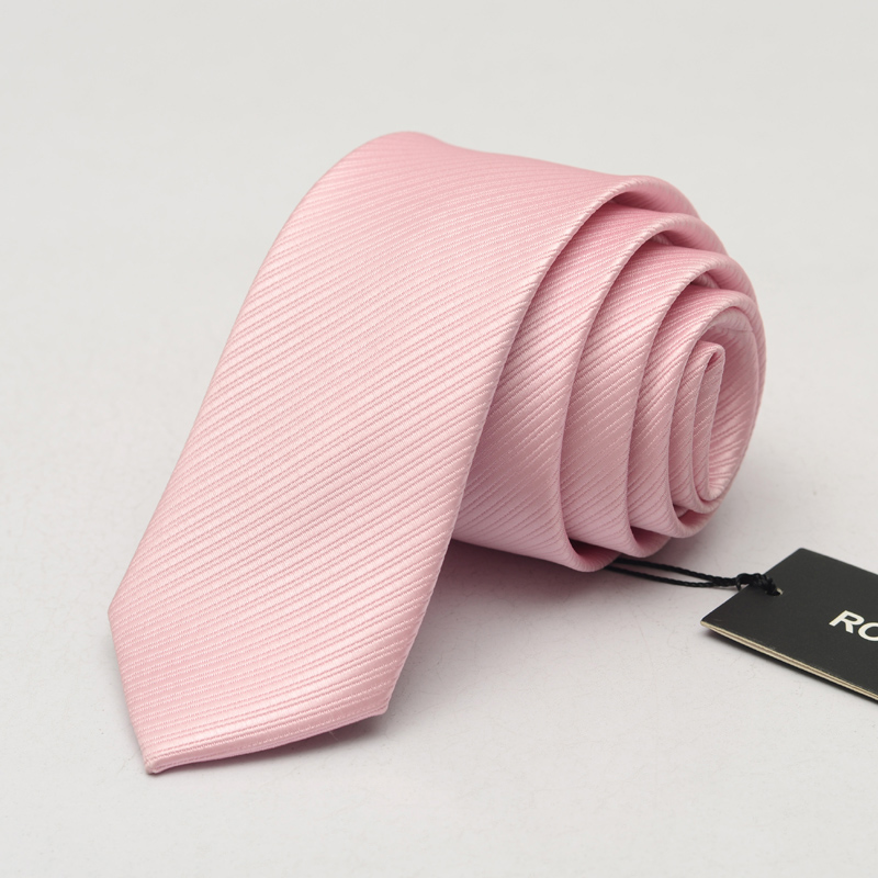 2017 New 6cm Ties For Men Silk Wedding Tie Men's Casual Necktie Skinny Brand Groom Neckties Pink Striped Slim Ties Gift Box