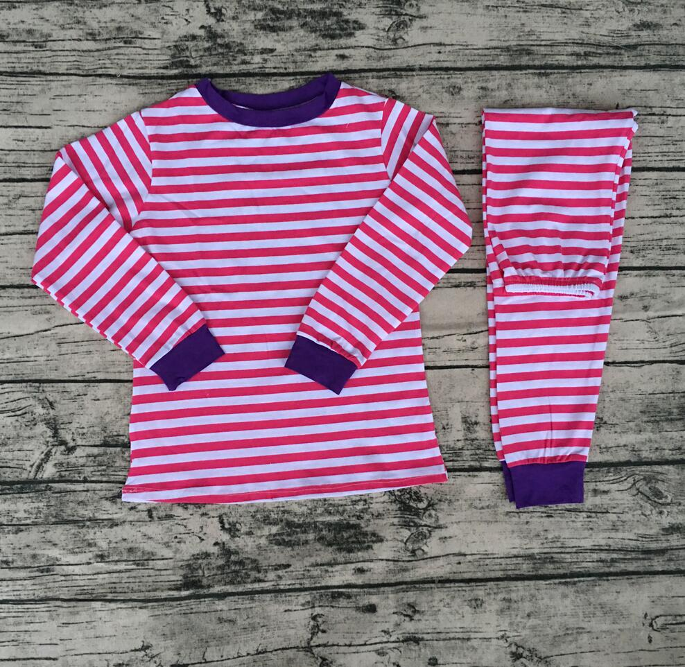fashion Christmas Easter pajamas set children 2017 new design shirts casual baby girl clothing boutique outfits pajamas kids set