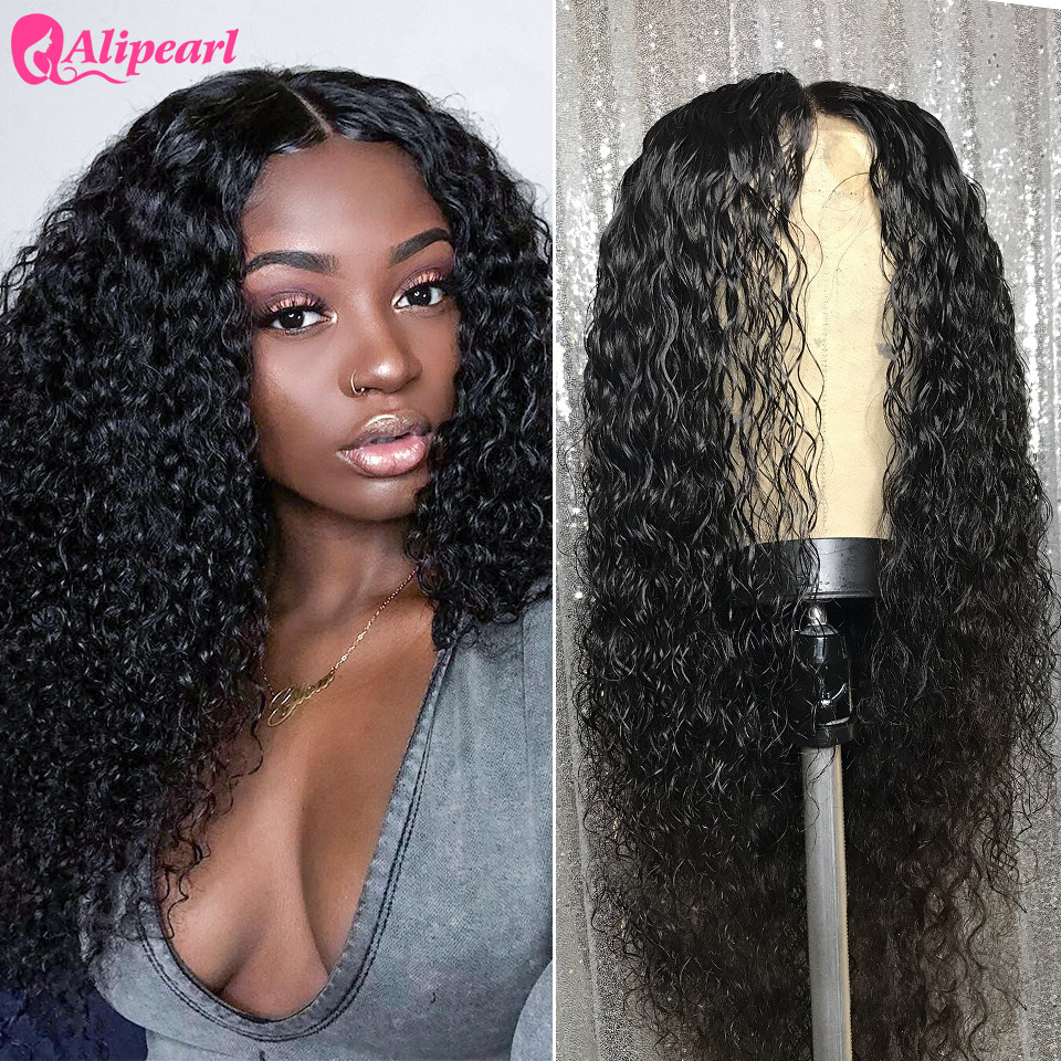 Contemplative Deep Wave Lace Front Human Hair Wigs 130 150 180 250 Density Pre Plucked Brazilian Human Hair Wigs For Black Women Alipearl Hair An Indispensable Sovereign Remedy For Home Human Hair Lace Wigs Lace Wigs