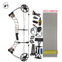 High Quality T1 Compound Bow Set 17-70 Lbs Draw Weight 19-30 Inches Draw Length 320fps IBO Archery Equipment for Shooting topoint archery compound bow package t1 cnc milling bow riser 19 30in draw length 19 70lbs draw weight 320fps ibo