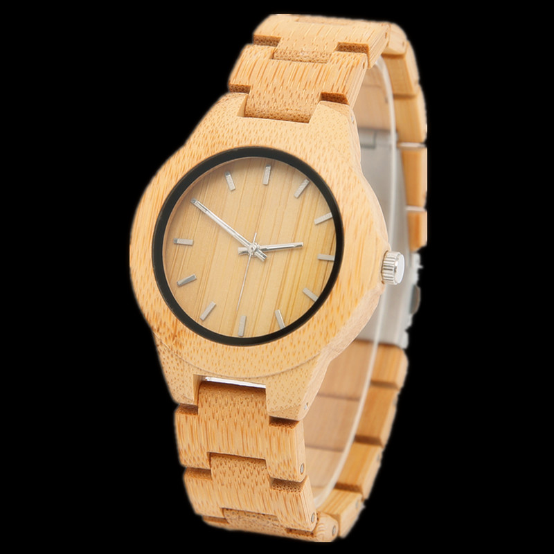 06 Kvinder Ur Luksus Dameure ure Wood Watch Analog Quartz Light - Dameure - Foto 4