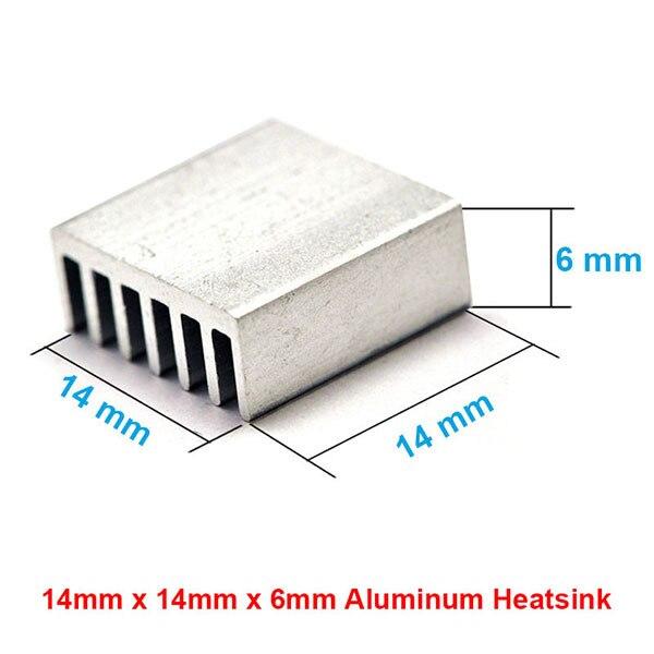14x14x6mm Aluminum Heat Sink Radiator