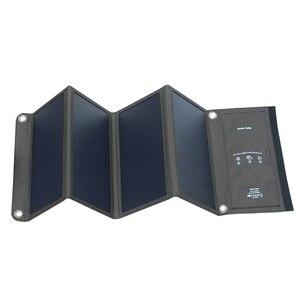 Image 3 - Xionel 28 واط شاحن بالطاقة الشمسية المحمولة مقاوم للماء مع لوحة طاقة شمسية منافذ USB مزدوجة للهاتف المحمول