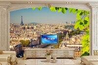Custom 3d Wall Murals France Houses Rivers Bridges Paris Wallpapers Living Room Tv Sofa Wall Bedroom