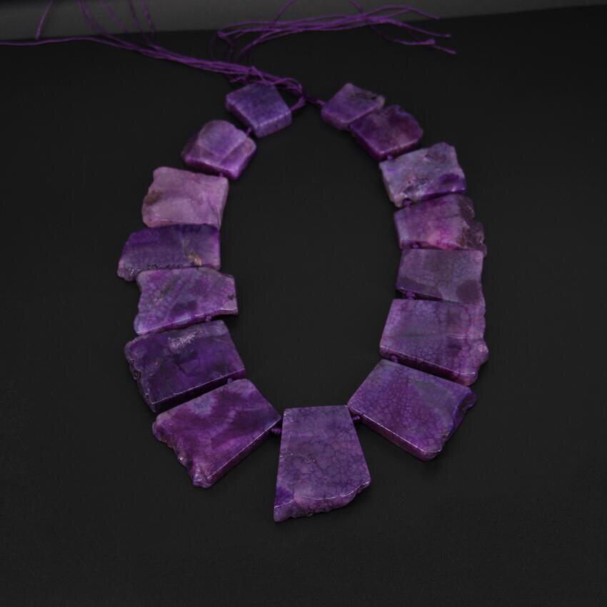 Около 15 шт./прядь, гладкую Фиолетовый Дракон вен купля Толстые плиты Бусины, окончил Естественный Камни купля кусочек свободные Бусины куло...