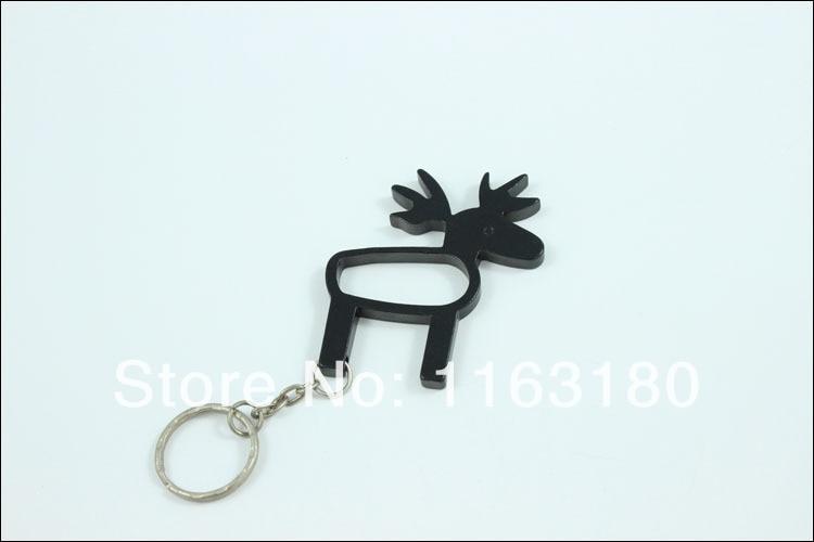 12 pcs lot beer bottle opener deer shaped keychains aluminum alloy can open tools promotion gift. Black Bedroom Furniture Sets. Home Design Ideas