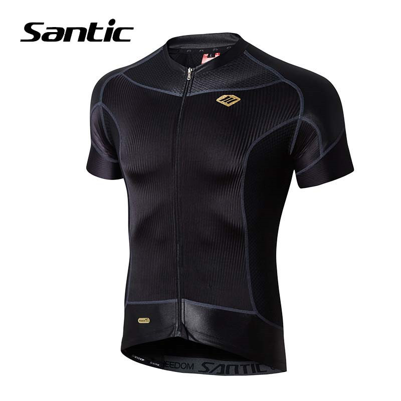 Santic Short Sleeve Cycling Jersey 2018 Men Road Mountain Bike Jersey Maillot Ropa Ciclismo Mtb Jersey Downhill Bicycle Clothing fastcute cycling jersey sets ropa de ciclismo short sleeve road bicycle jersey gel padded mountain bike clothing mtb cycle set