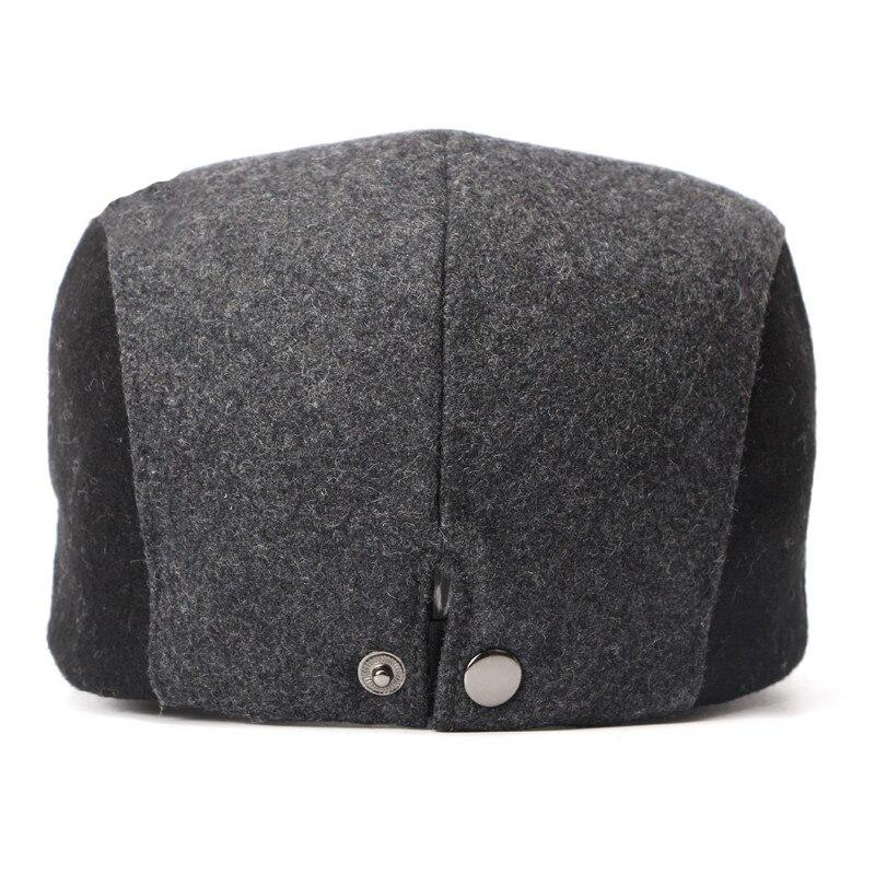 Ht749 nova moda mens inverno boina cap chapéu de feltro de lã tampas de hera  cap chapéu para os homens coreia do estilo patchwork gastby avançado caps  ... e3c0f77e385