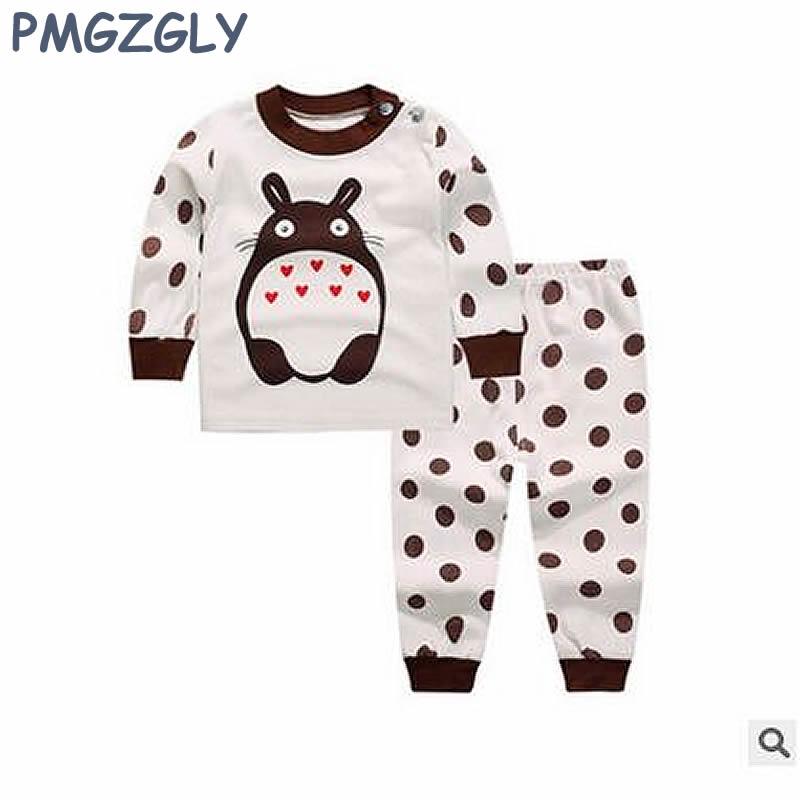 Aktiv Baumwolle Nachtwäsche Für Mädchen Baby Schlafen Satz 0-5 Jahre Kinder Lange Unterhosen Kleidung 2 Stück Coat + Pants Nachthemd Jungen Nachtwäsche Langarm