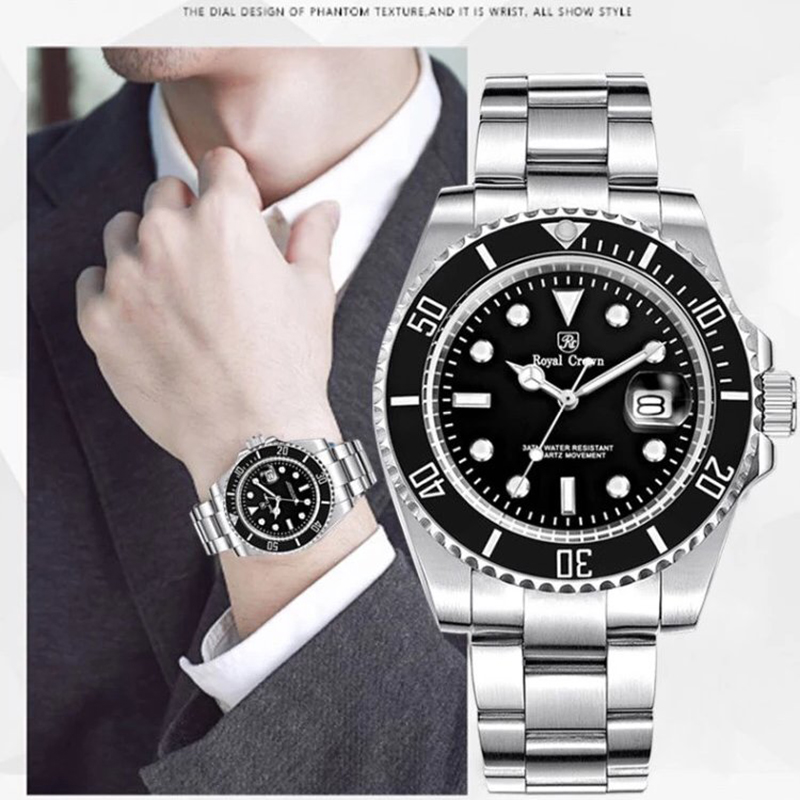 Royal Crown diver watch 3663M Italy brand Diamond Japan MIYOTA oyster perpetual diver relogio masculino lole капри lsw1233 run capris m oyster