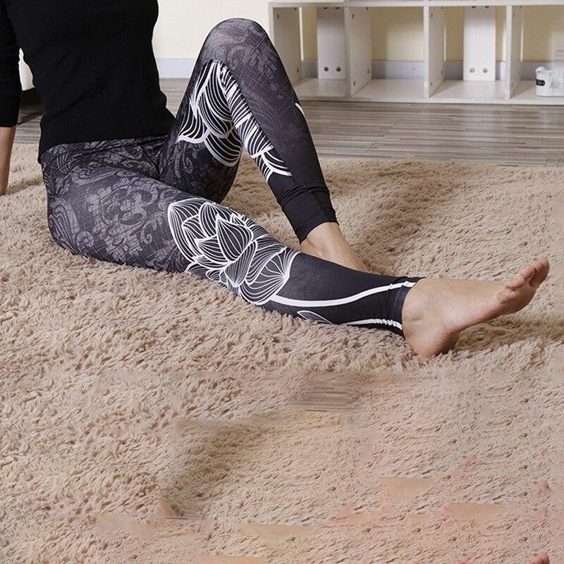 554b038332 2019 3D New Autumn Women Leggings Lotus Mandala Flower Printed Leggins Sexy  Black White Fitness Silm Mujer Pencil Pants gaiters | Athletic Store