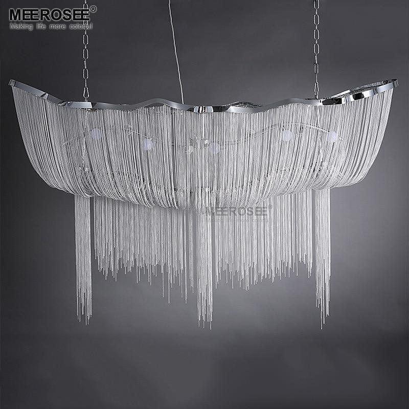 Aluminum Chain Pendant Lights Fixture Vintage Empire Luminaire Suspendu French Chain Hanglamp Lustres Luminaria For Living Room|Pendant Lights| |  - title=