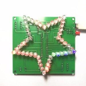 Image 2 - 1 PC coloré étoile à cinq branches LED lumière deau 51 MCU LED lumières électronique bricolage kit de production 5 V