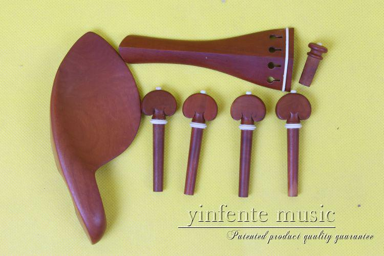 1 set new high quality  rosewood  violin parts 4/4, chinrest, pegs, tailpiece, endpin new 5 set 4 4 violin parts ebony tailpiece peg chinrest accessories e16