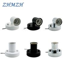 Universal 180 Degree Steering E14 E27 Lamp Holder High temperature resistant ceramic screw Lamp Base