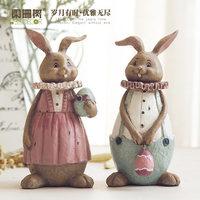 Wu Li familia parejas conejo adornos encantadores picante conejo adornos decorados resina artesanía creativa regalo de San Valentín