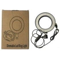 Foleto 16 см кольцо со светодиодной подсветкой телефон фото видео USB Регулируемая фотография Освещение лампа затемнения для камера DLSR селфи съемки