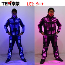 New arrived LED Robot Costume/ LED Dance Performance / Luminous Clothing /LED Suits For Men Women DJ Show Light Clothing