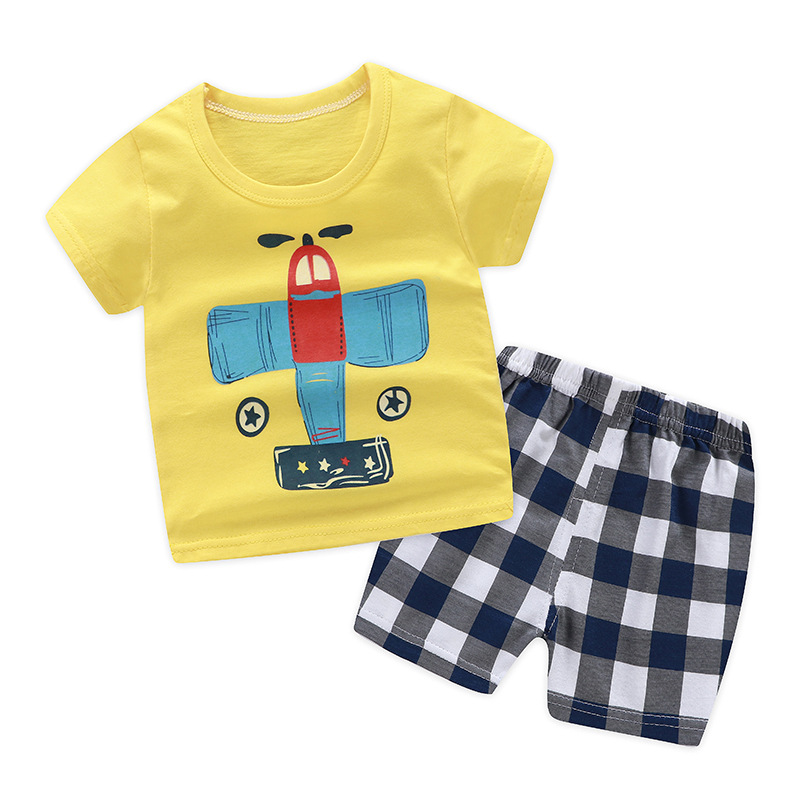 18a228a027725 Summer children clothing sets cartoon toddler girls clothing sets top+pant  2Pcs/sets kids casual boys clothes sport suits outfit-in Clothing Sets from  ...