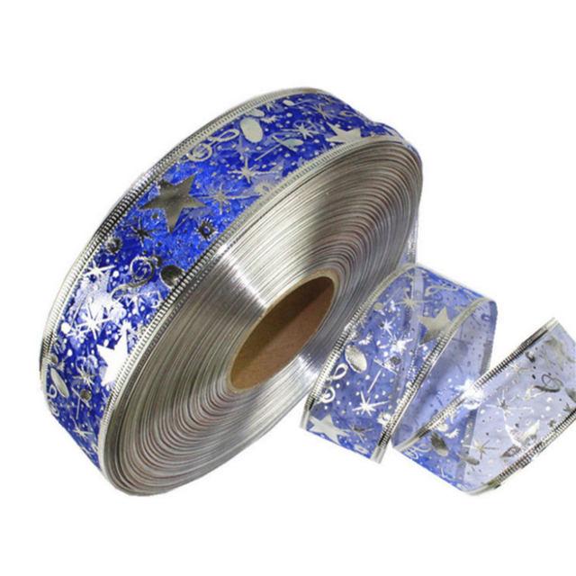 DIY Card Gift Wrapping Lace Crafts Handmade Satin Edge Organza Star Ribbon Bow Hair Wedding Christmas Decoration 200*5cm 21