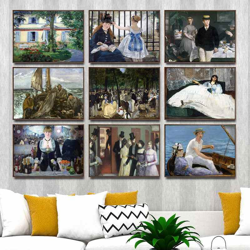 Home Decoration Art Wall Pictures Fro Living room Poster Print Canvas Printings Paintingsn French Edouard Manet  2