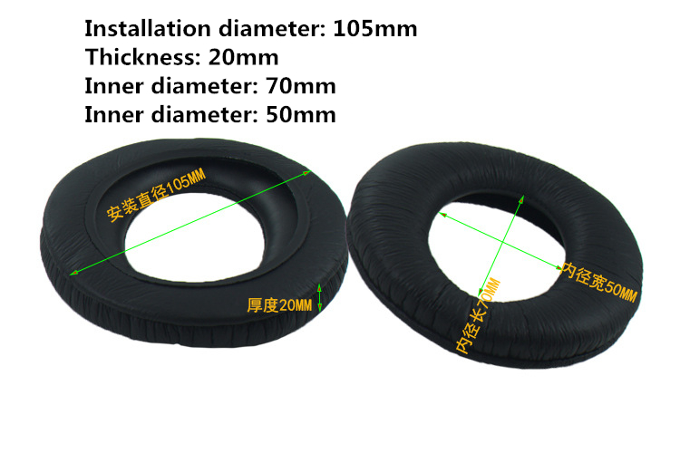 105MM Replacement Foam Ear Pads Cushion For Sony for Sennheiser Headphones Soft Earpads 1 (4)_