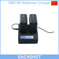 DBK Dual Digital Battery Charger For Sony NP F330 NP F550 NP F570 NP F970