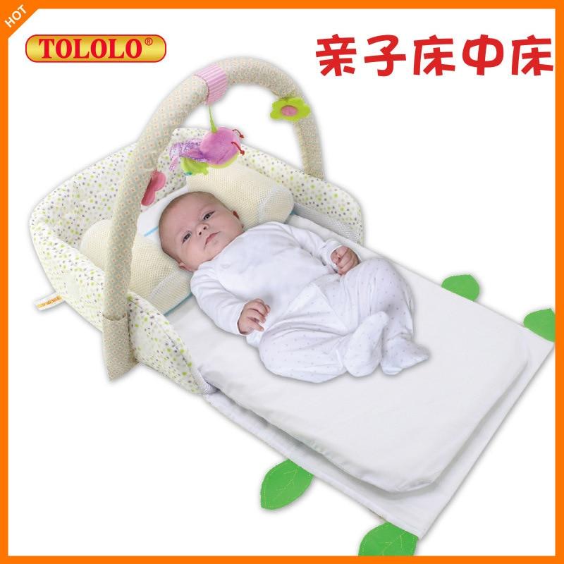 Multifunctional crib portable folding bed newborn baby play bedMultifunctional crib portable folding bed newborn baby play bed