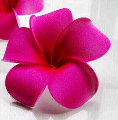6 см Искусственный Плюмерия acutifolia PE Франгипани цветы, Рождественские Свадебные украшения орнамент, реквизит для фотографий, 200 шт - Цвет: Rose Red