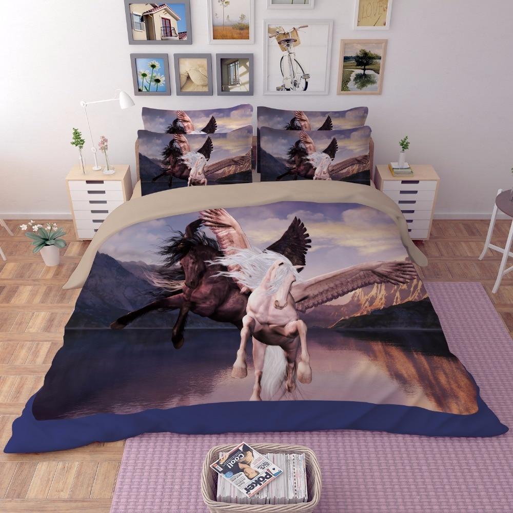 3d horse bedding sets bed sheet duvet cover set bedspreads. Black Bedroom Furniture Sets. Home Design Ideas