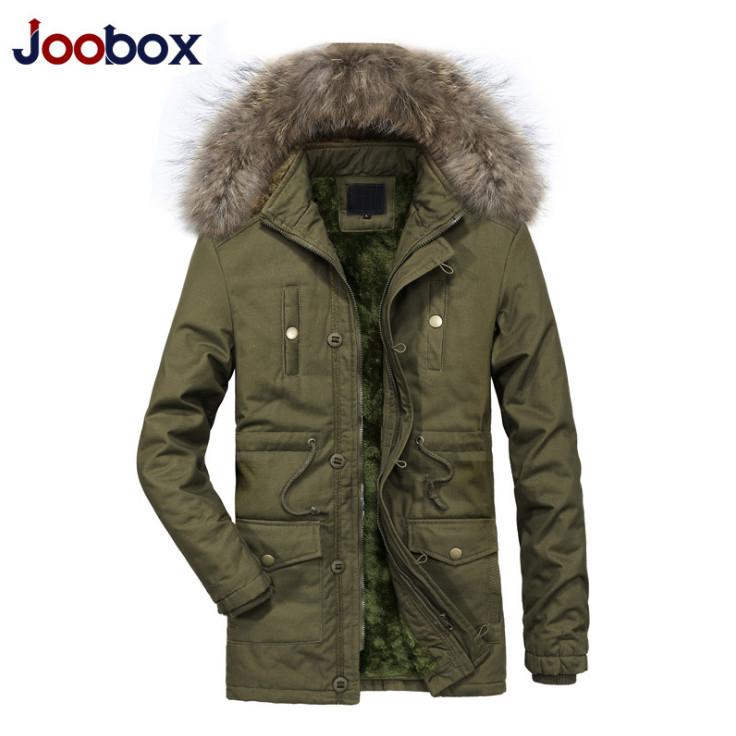Jackets & Coats Men's Clothing Motivated New Winter Fur Collar Hooded Parkas Men Thicken Cotton Padded Jacket Top Quality Multi-pocket Snow Warm Windproof Coats Male