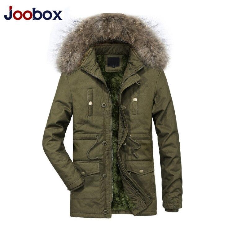 Nouveau hiver fourrure col capuche Parkas hommes épaissir coton rembourré veste Top qualité multi-poches neige chaud coupe-vent manteaux mâle