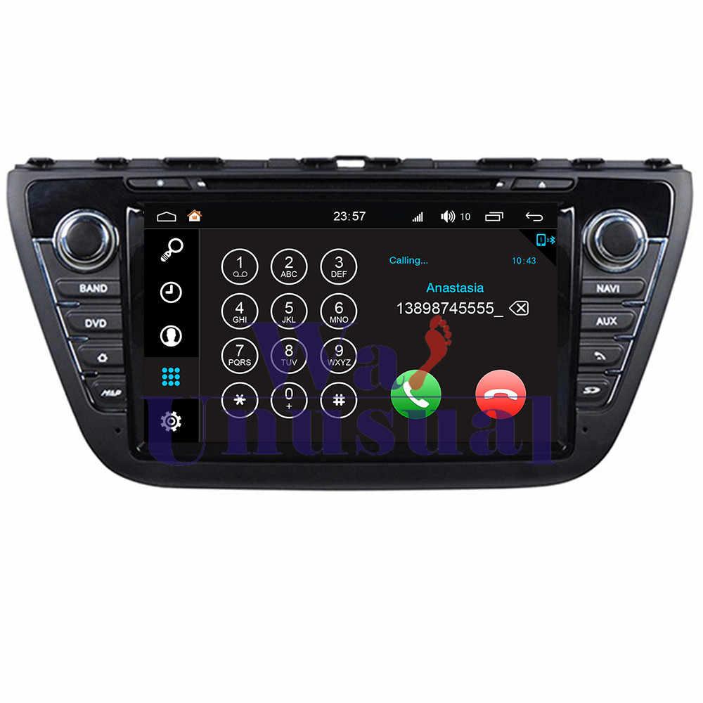 "WANUSUAL 8 ""WINCA S190 Android 7.1 Dört Çekirdekli 16G 2G RAM Araba DVD OYNATICI GPS Suzuki Çapraz 2014 Radyo Stereo Bluetooth WIFI Harita"