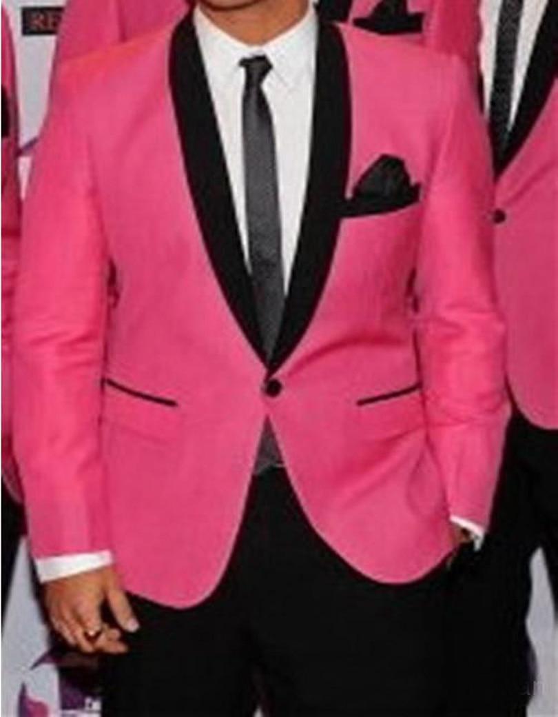 Por Encargo color de Rosa Caliente Del Novio Esmoquin Para Hombres ...