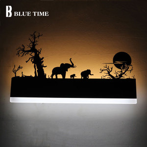 Image 3 - 110v 220v ledウォールライト黒壁ランプ燭台リビングルームベッドサイドルームの寝室のランプ壁燭台ミラーライト壁