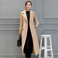 Winter Coat Women Warm Wool Coat Long Women's Autum Fashion Jacket Outwear female wool over the knee super woolen coat