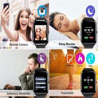 men waterproof Z60 Smart Watch For Men Fitness Bracelet Ip67 Waterproof With Sim Card Slot Women Smartwatch Clock For Apple Ios Android Phone (2)