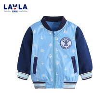 Kids Clothes LAVLA 2016 Autumn New Children Clothing Baby Clothes Woven Long Sleeved Jacket Baby Coat Zipper Top Infant Coat