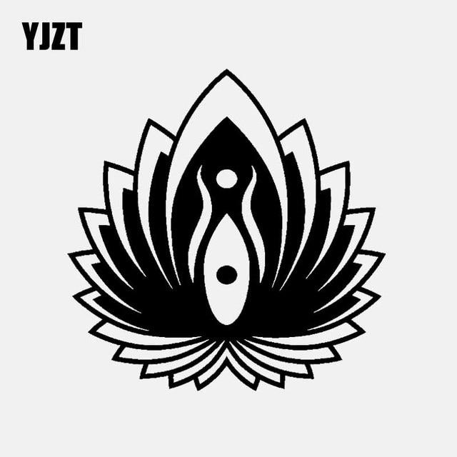 Yjzt 142cm143cm Yin Yang Symbol Lotus Flower Yoga Buddhism Car
