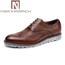 NORTHMARCH Luxury Brand Brogue Men Comfortable Casual Oxford Shoes For Men Classic Office Dress Shoes Italian Schuhe Herren