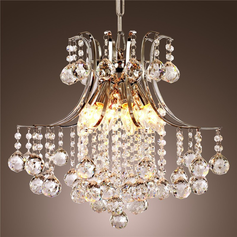 Modern Crystal Chandelier With 6 Lights High Quality Materials Transpa Lamp Living Room Hanging Lamps In Pendant From