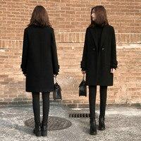 Lange Winterjas Zwart.Zwarte Jas Vrouw Beste Koop