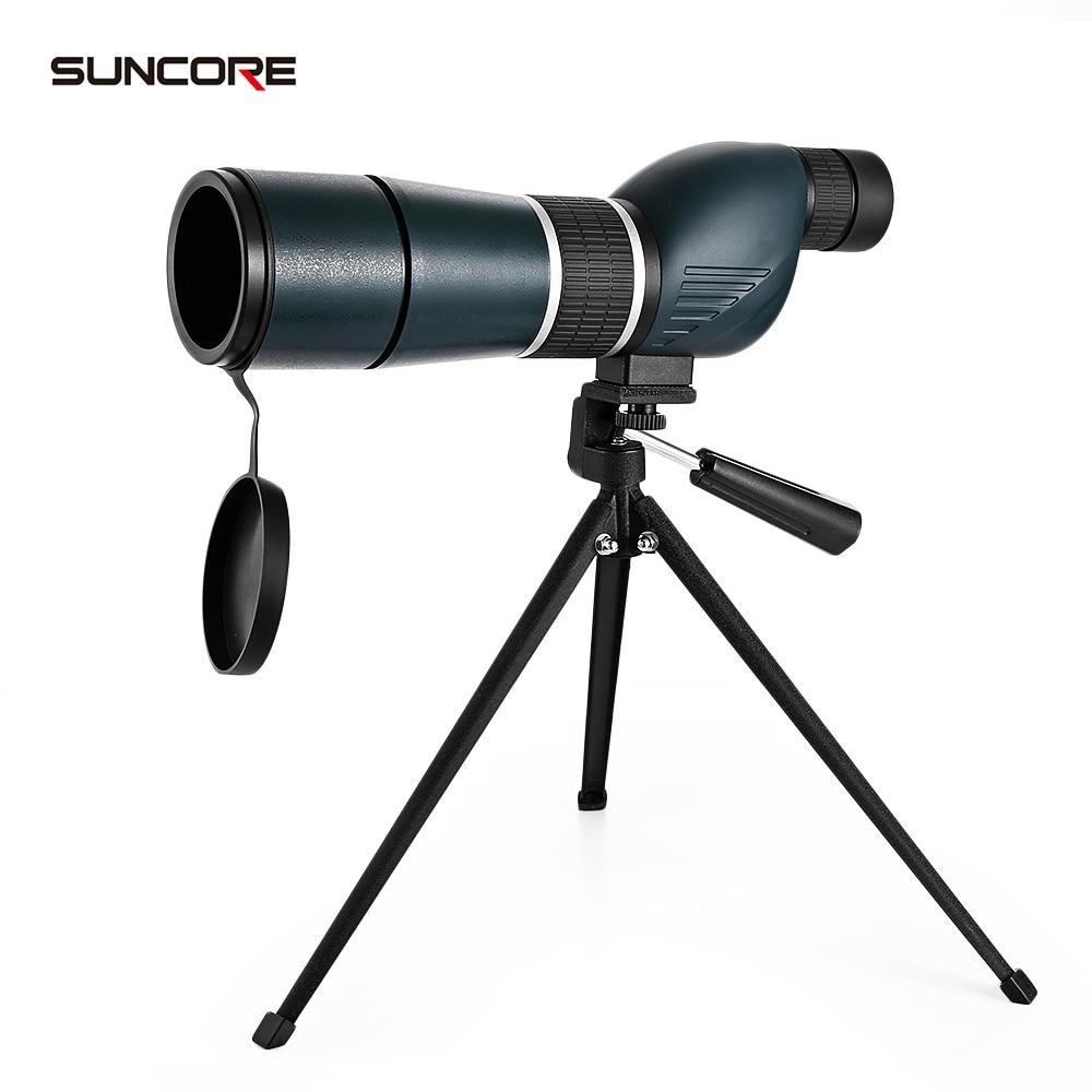 SUNCORE 15 - 45X60S Telescope Monocular Bird Watching Spotting Scope with Tripod suncore water resistant 12 x 25mm monocular telescope
