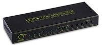 Tomsenn Prosumer Ultra HD 4K HDMI 4X2 Matrix Support ARC Advanced Audio Receiver Headphone TOSLINK HDMI