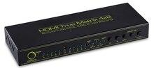 цена на Tomsenn Prosumer Ultra HD 4K HDMI 4X2 Matrix  Support| ARC | Advanced Audio Receiver | Headphone | TOSLINK | HDMI Switch