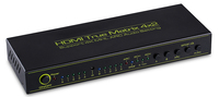 HDMI V1.4a HDMI Matrix 4X2 (4 to 2) Switch Switcher Splitter Amplifier with Remote Support ARC Headphone TOSLINK 4KX2K
