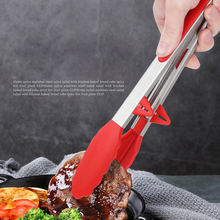 Stainless Steel Barbecue Tongs Food Clip Kitchen Gadgets Buffet Restaurant Tweezers Tools